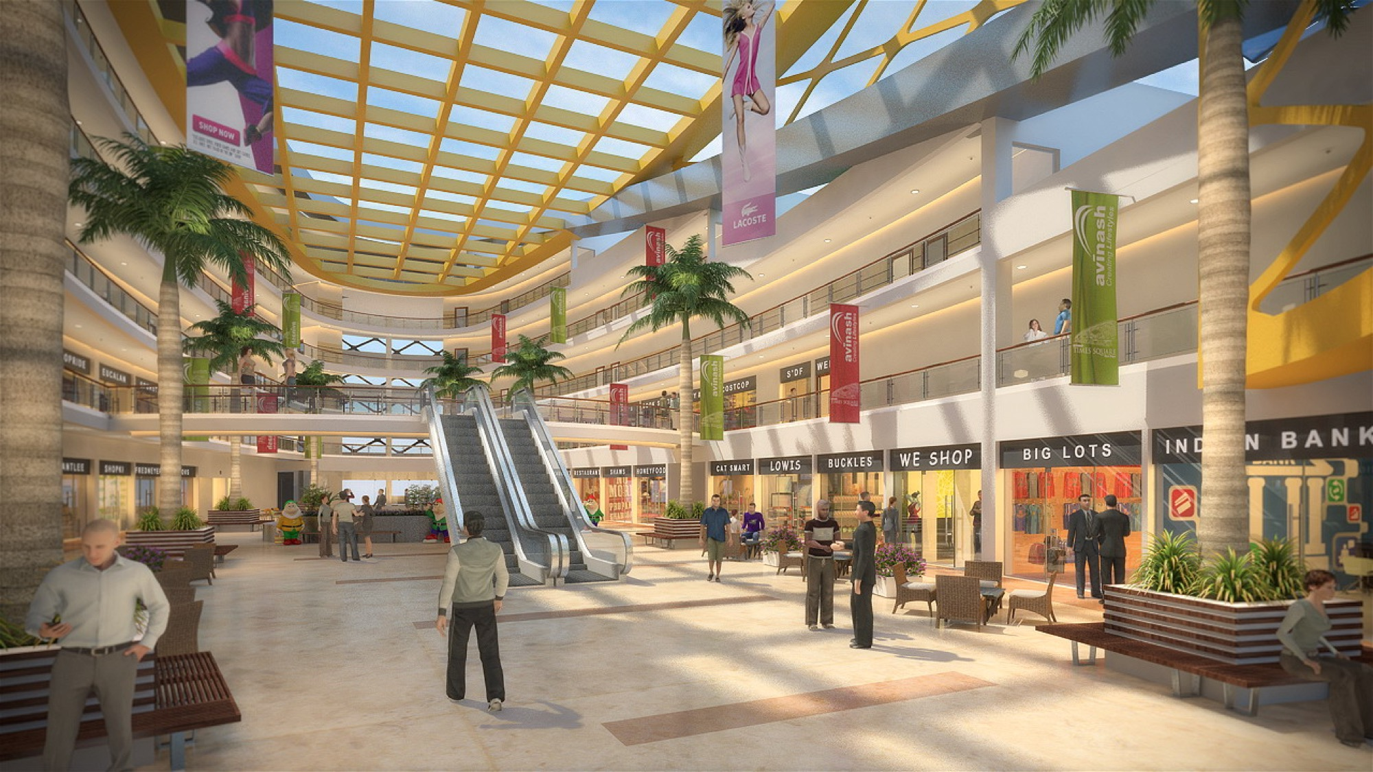 A Mall that Breathes - Times Square Mall at Naya Raipur, by Creative Group 9