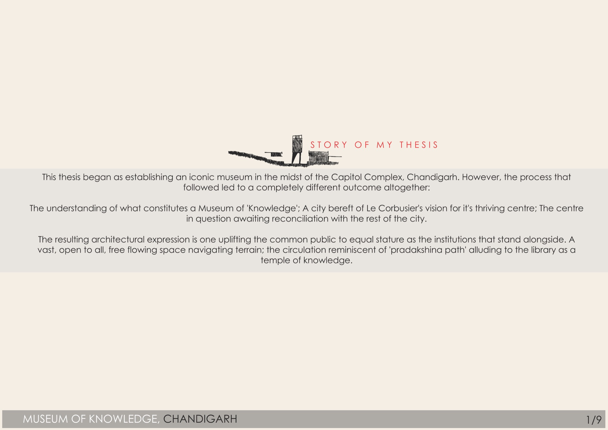 B.Arch Thesis: Museum of Knowledge, Chandigarh, by Nikhil Pawar 9