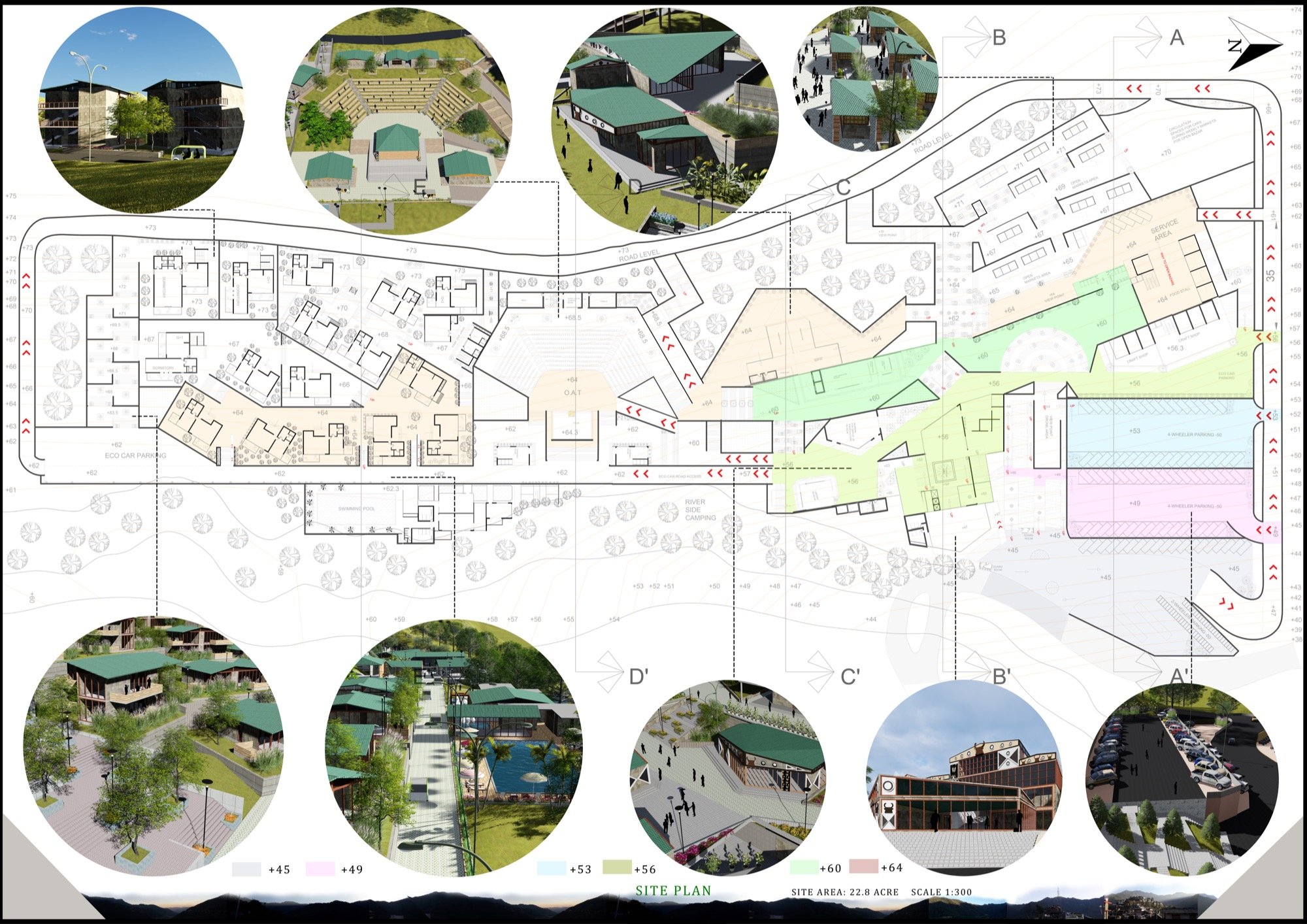 B.Arch Thesis: Eco-Tourist Hub of KHONOMA Village, By Shanjo A. Kithan, ITM University-Gwalior 17
