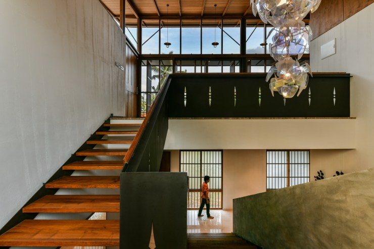The Skew House, at Kerala, by Thought Parallels Architecture 21