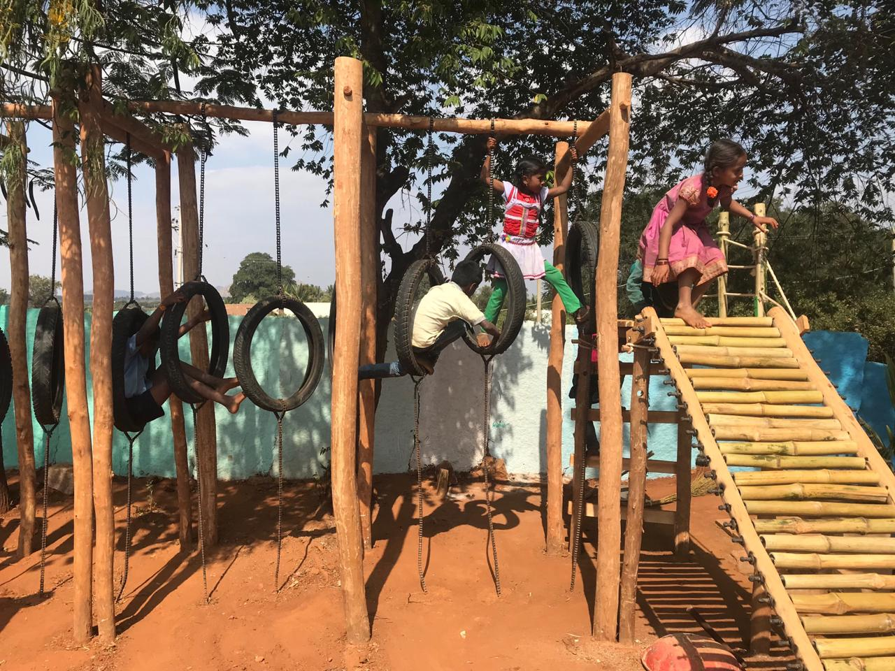 The Vernacular Playground in a remote village of Karanataka, by GrassrootED 9