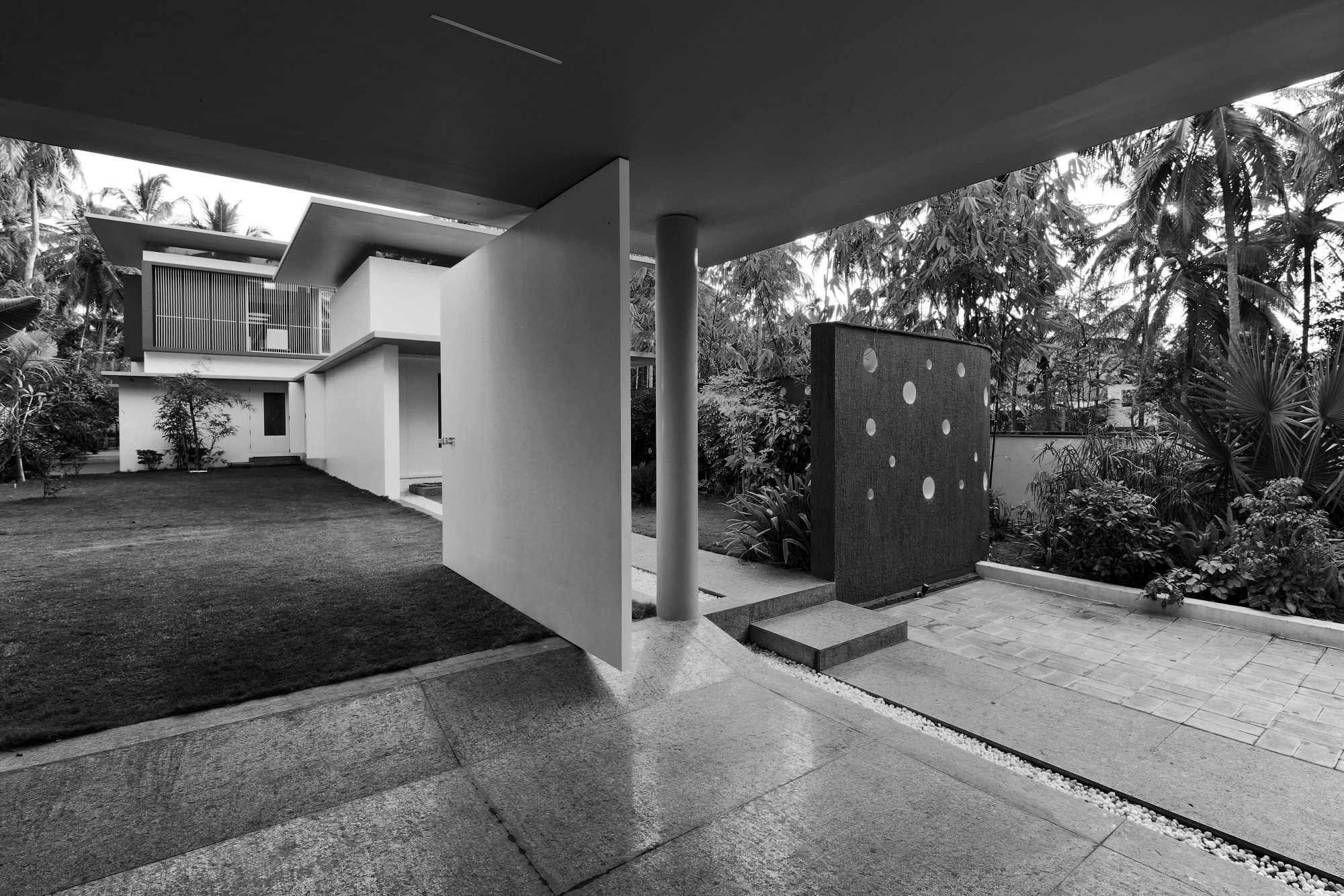 The Floating Parasol House at Thirur, Kerala, by LIJO RENY architects 234