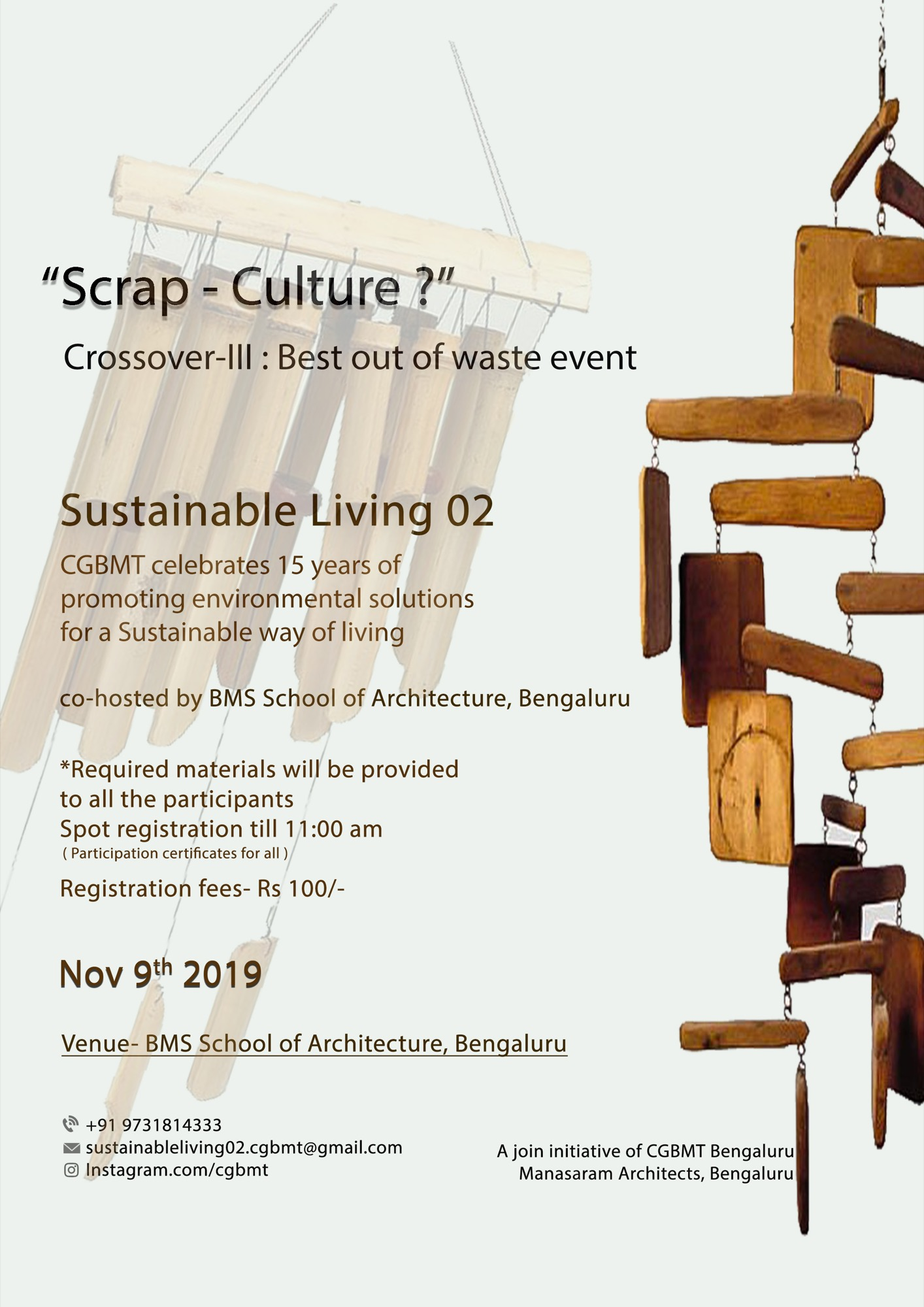 Sustainable Living-2, Event by Centre for Green Building Materials and Technology, Bangalore 5