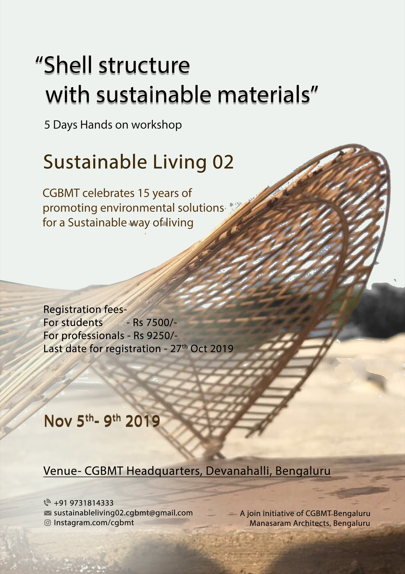 Sustainable Living-2, Event by Centre for Green Building Materials and Technology, Bangalore 9