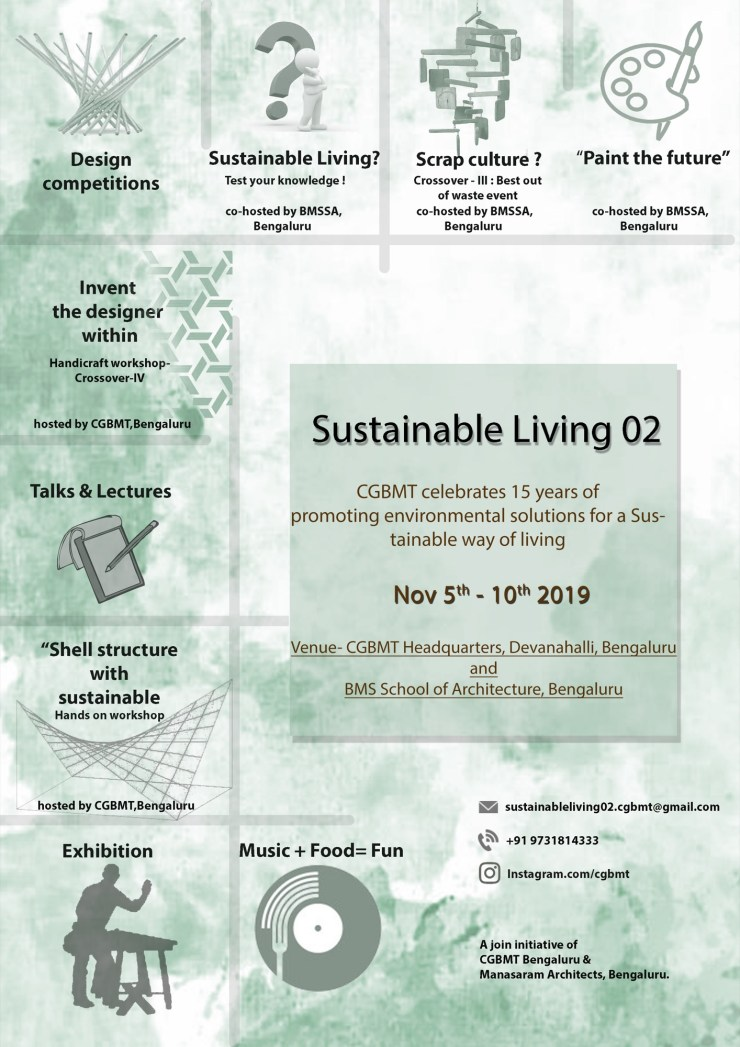 Sustainable Living-2, Event by Centre for Green Building Materials and Technology, Bangalore 1