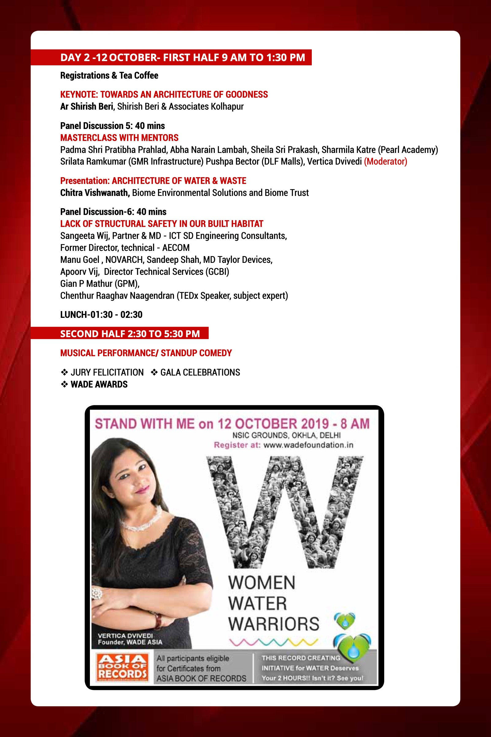 WADE ASIA 2019 announces its theme: WOMEN | WATER | WORKMANSHIP 3