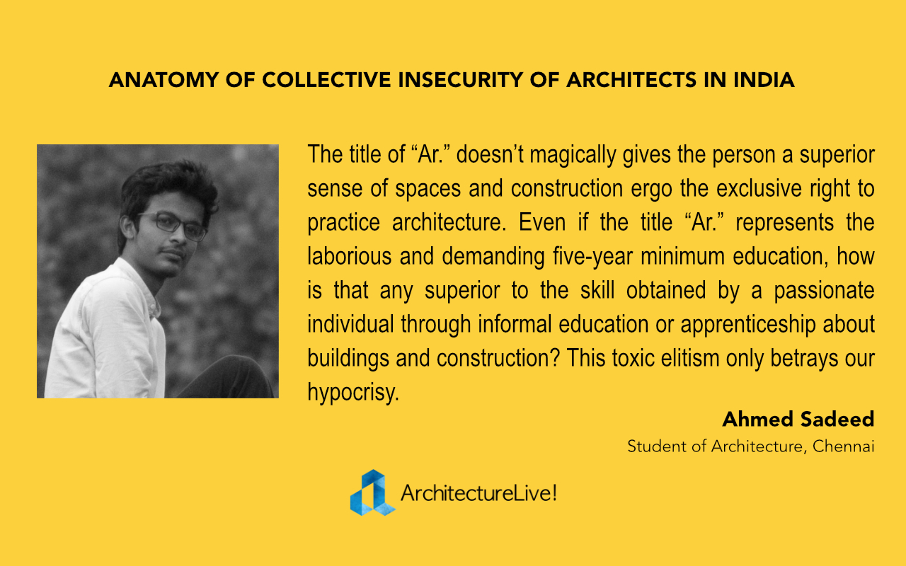 Architects in India - Ahmed Sadeed