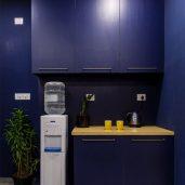 The blue pantry unit