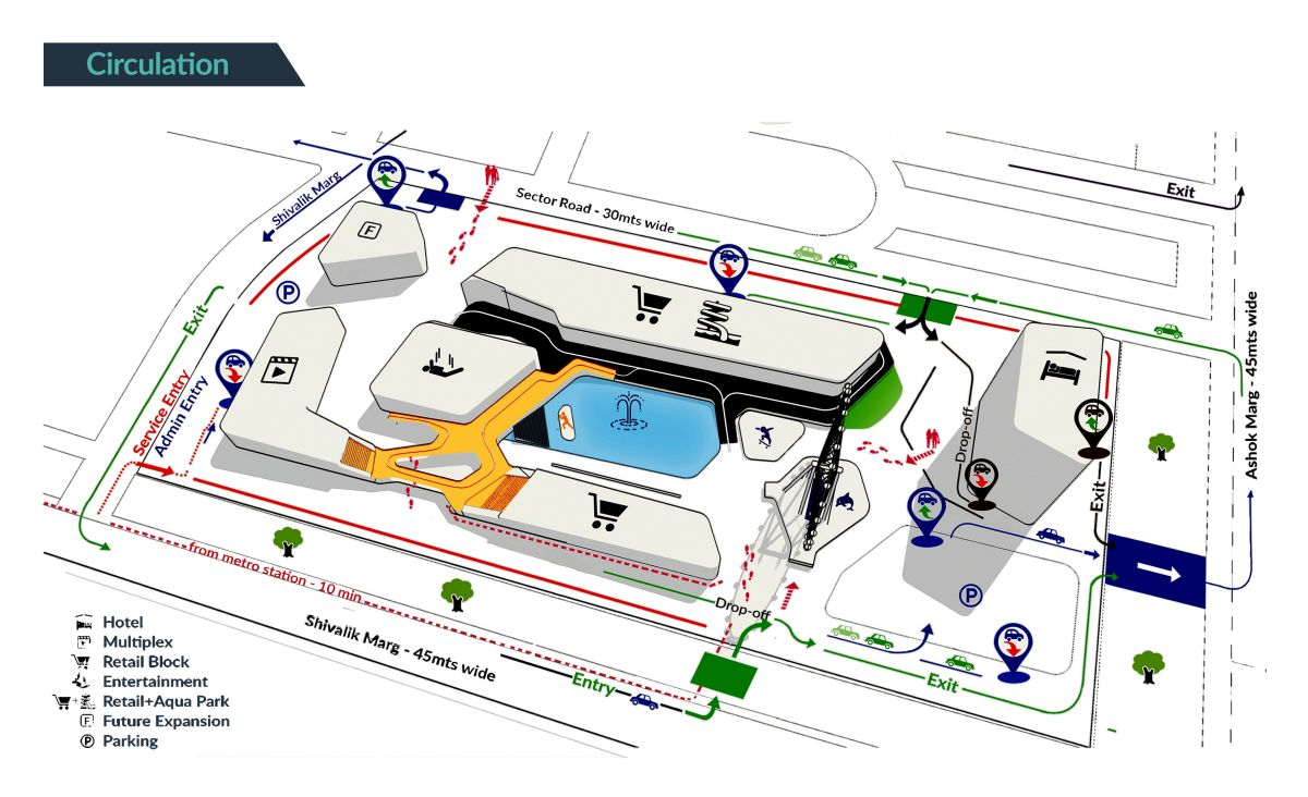B.Arch Thesis : URBAN ENTERTAINMENT CENTRE, at Noida by KUNAL LUTHRA 7