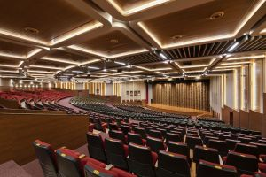 Auditorium for Rajagiri School of Engineering & Technology at Kochi, Kerala by Architect Rahul Manohar (RMM Designs)