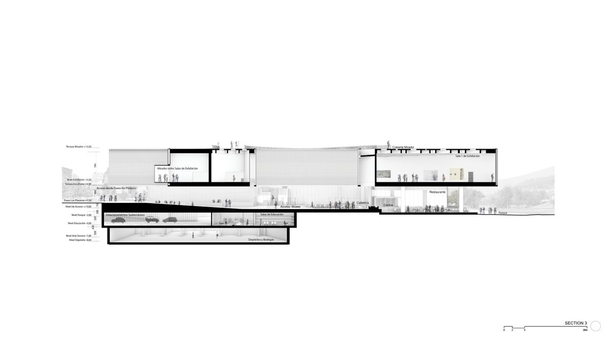WINNING PROPOSAL FOR THE NEW SANTIAGO'S MUSEUM (NuMu), at Santiago, Chile, by Claudio C. Araya 50