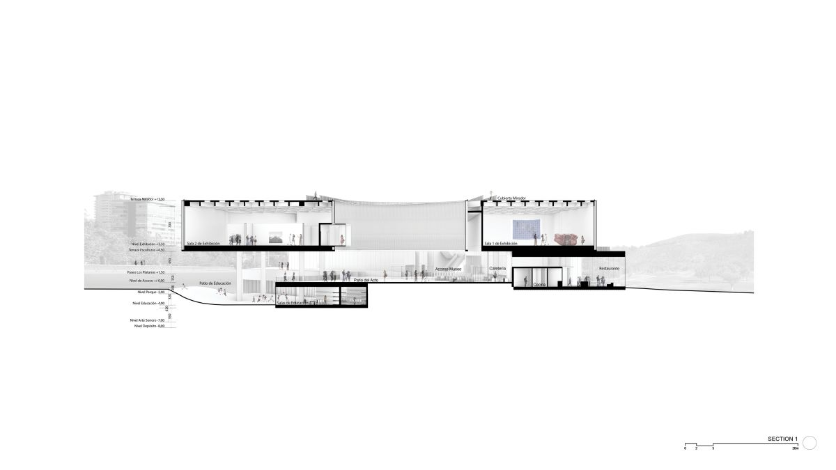 WINNING PROPOSAL FOR THE NEW SANTIAGO'S MUSEUM (NuMu), at Santiago, Chile, by Claudio C. Araya 54