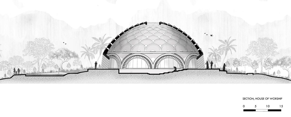 Baha'I Temple at Bihar, an award winning proposal by Spacematters 14