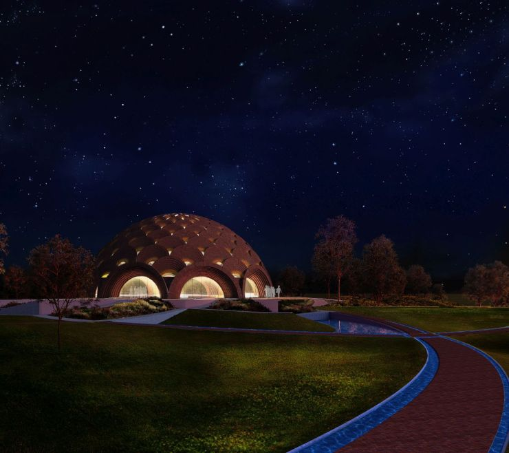 Baha'I Temple at Bihar, an award winning proposal by Spacematters 8