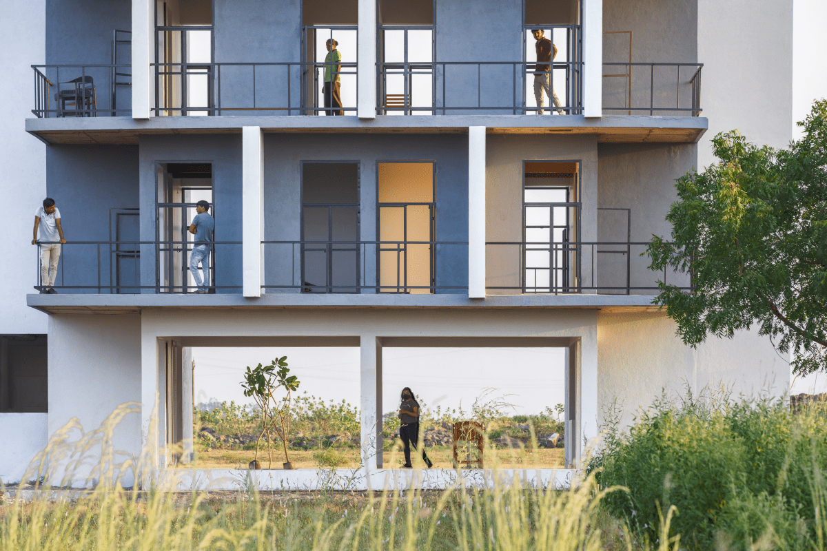 The Flying Walls Hostel, at Rajkot, Gujarat, by Dhulia Architecture Design Studio