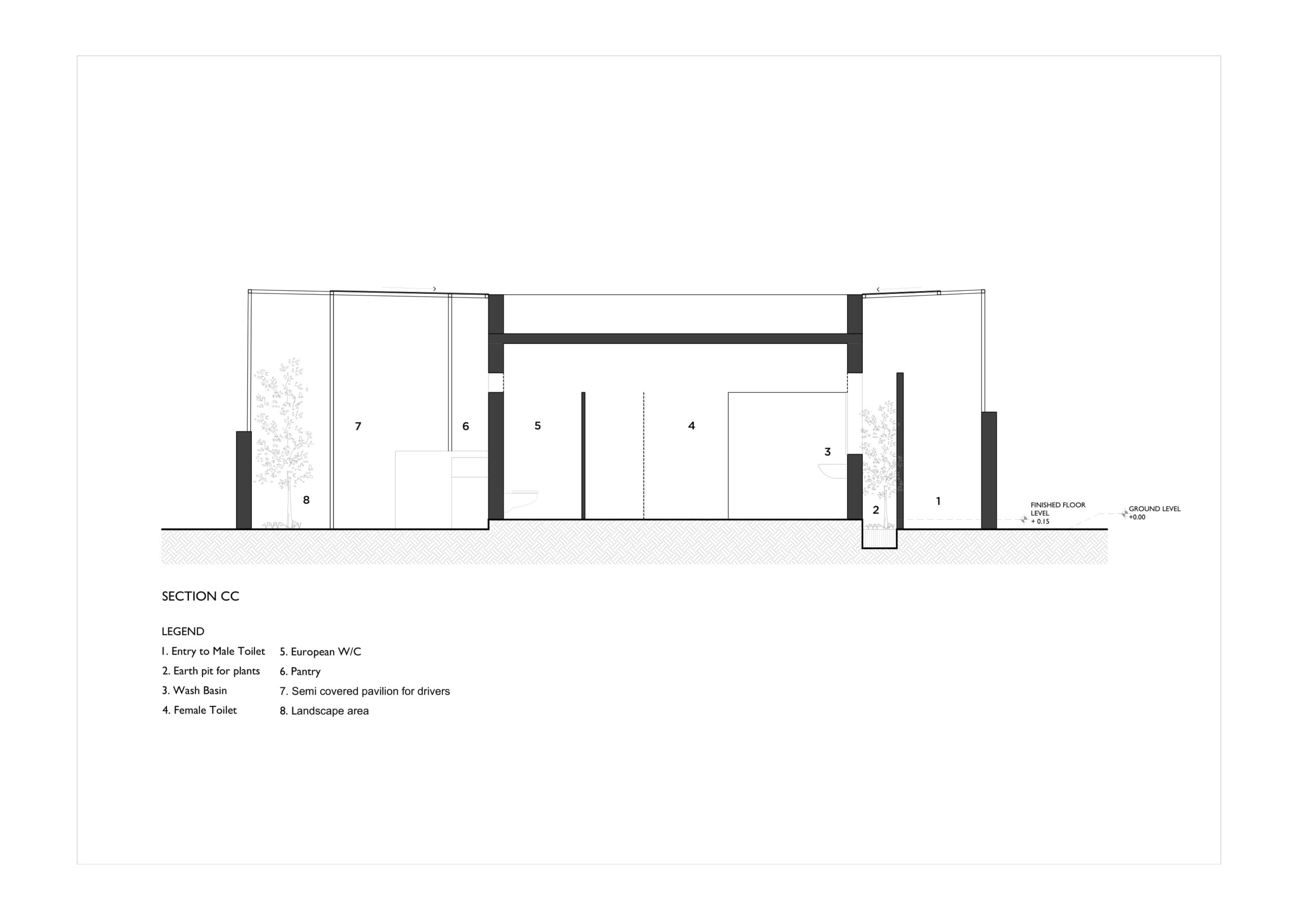 Pause - Restrooms, at Bombay-Goa Highway, by RC Architects 100