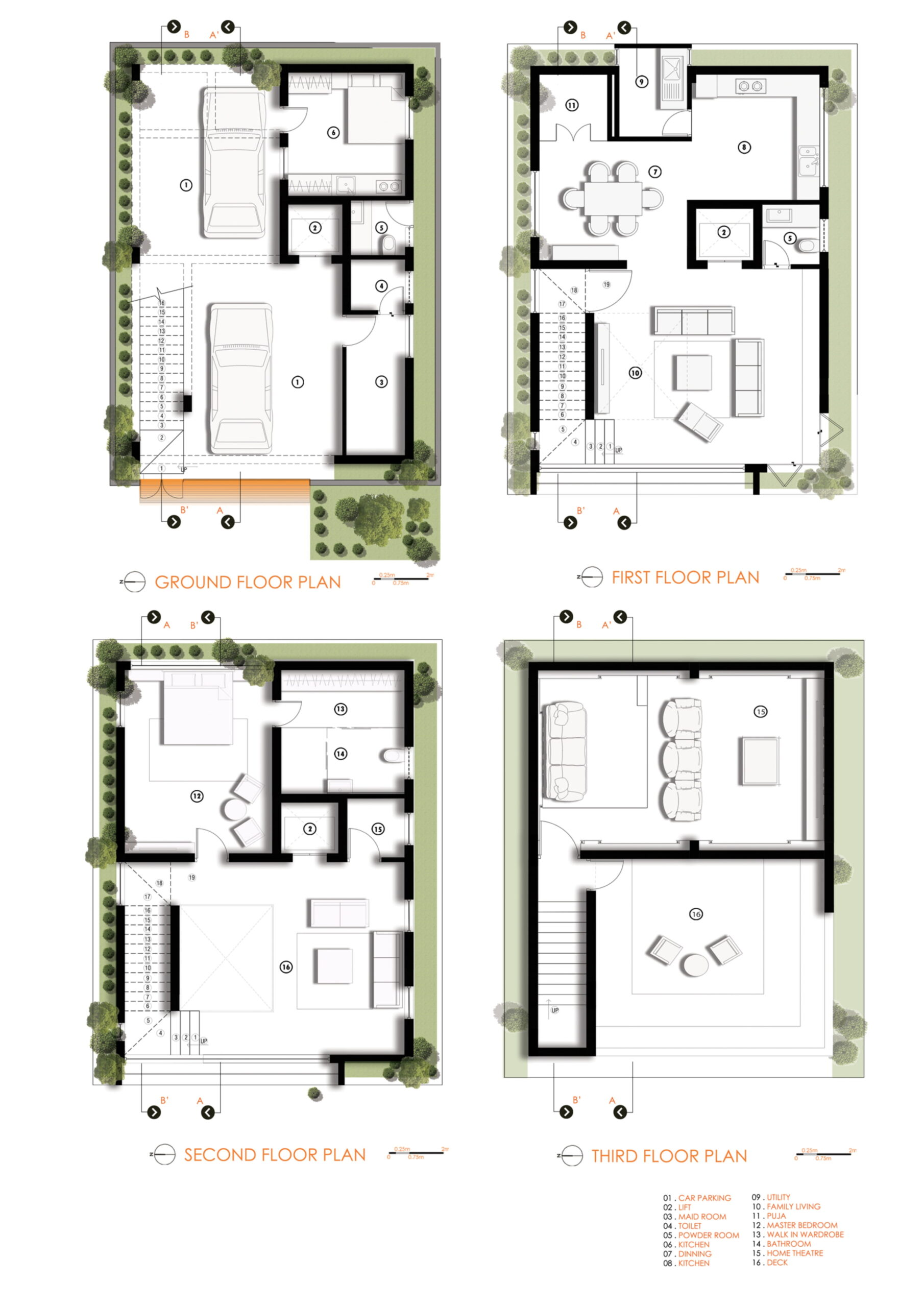 LOUVERED HOUSE, at Bangalore, by White Shadows Design Studio 40
