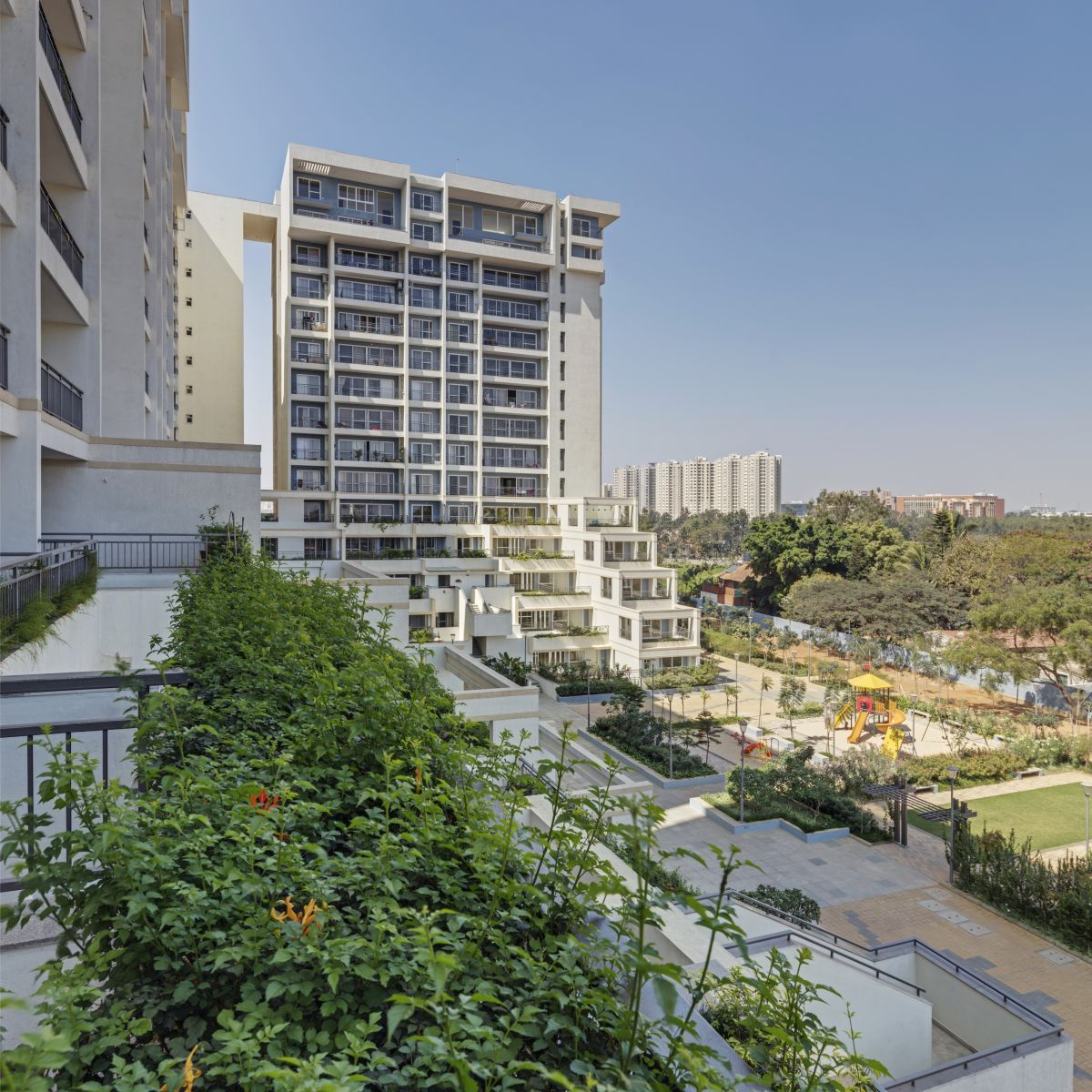 Terraced Residential Highrise, at Nallurhalli Road, Siddhapura, Bangalore, by CnT Architects 10