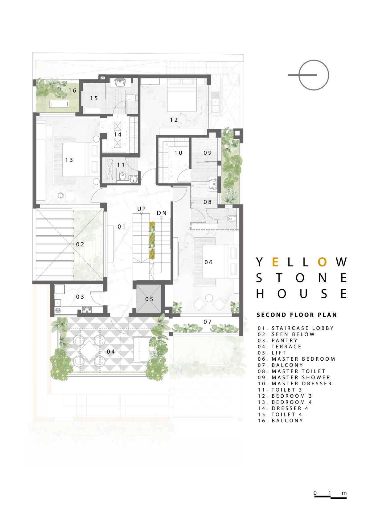 Yellow Stone House, at Indore, by Span Architects 63