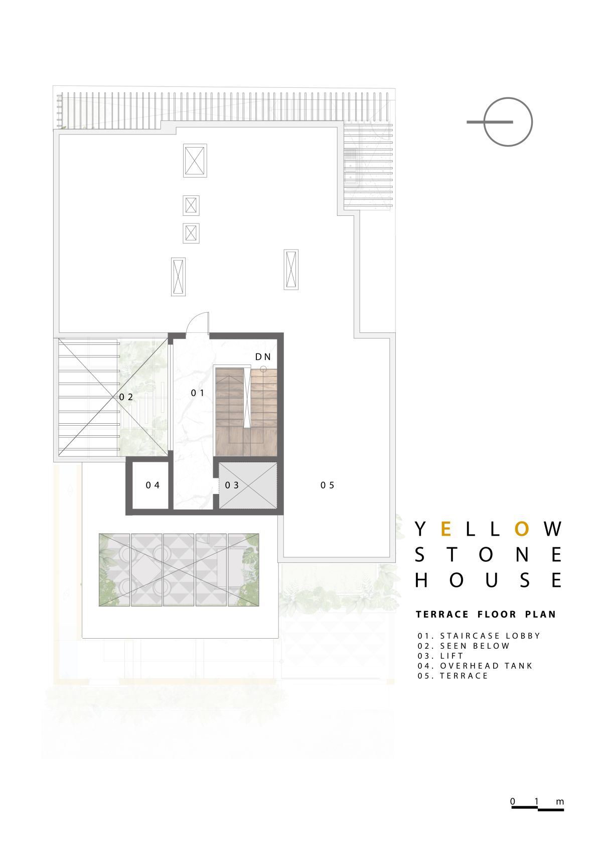 Yellow Stone House, at Indore, by Span Architects 65