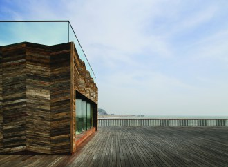 By the seaside, Hastings Pier by dRMM Architects.
