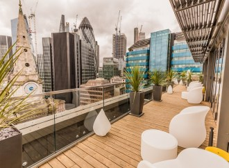 Dorsett City London hotel skybar, by Dexter Moren Associates