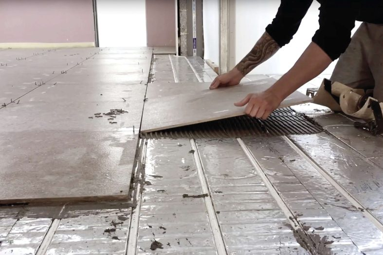 Tiled and tested underflooring heating from Wundatherm