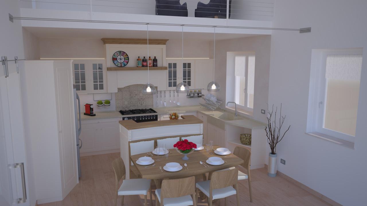 Progettare la cucina con isola. Progetto 24 Mq Architettura A Domicilio