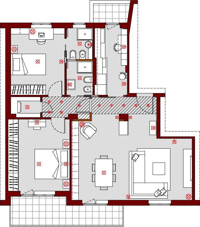 progetto-online-80-mq-appartamento-cucina-indipendente-dividere-bagno-in-due-planimetria-schema-punti-luce