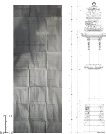 Reconstructed temple designs from the Samaranganasutradhara; from Adam Hardy, Theory and Practice of Temple Architecture in Medieval India.