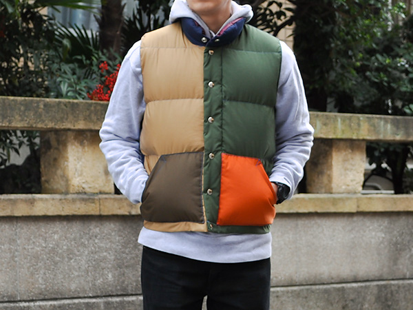 Crescent Down Works patchwork vest