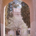 View of Shah Nematollah Vali Shrine through an Archway