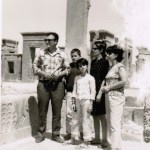 Candid Photograph of Relatives at the Apadana in Persepolis