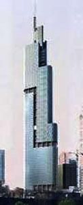Նանժինկ Կրինլանտ Ֆայնենշըլ սենթըր - Բարձրութիւն` 450 մեթր - Քաղաք` Նանքին (Չինաստան): - Կառուցման աւարտ` 2010