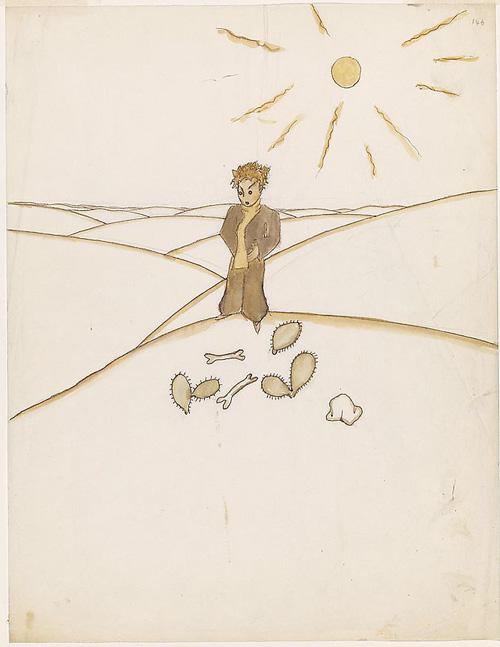 «Փոքրիկ Իշխանը» գիրքին համար Անթուան տը Սենթ-Էկզիւփերիի գծած ջրանկարներէն: