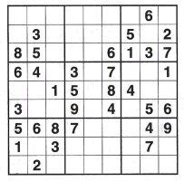 Կրնա՞ս ամբողջացնել տախտակը 1 - 9 թիւերով, գիտնալով, թէ իւրաքանչիւր ուղղահայեաց եւ հորիզոնական շարքերուն վրայ, ինչպէս նաեւ 3 x 3 տուփիկներու խումբին մէջ այդ բոլոր թիւերը պէտք է գոյութիւն ունենան: