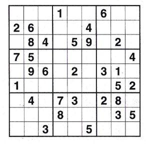 Կրնա՞ս տախտակը ամբողջացնել իւրաքանչիւր հորիզոնական եւ ուղղահայեաց, ինչպէս նաեւ 3x3 տուփիկներուն մէջ դնելով 1-9 թիւերը: