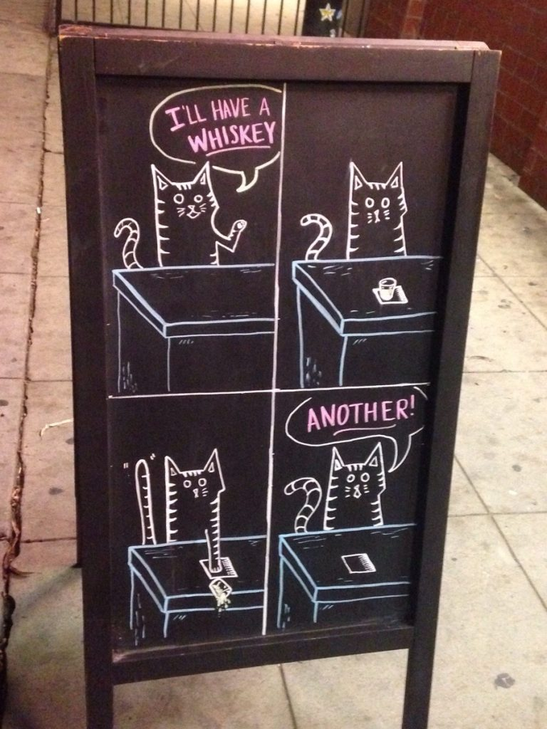 Cat whisky