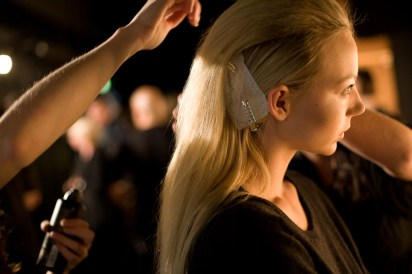 Backstage at Friedrich Gray