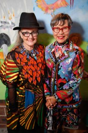 Linda Jackson and Jenny Kee