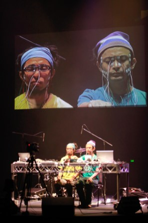 Daito Manabe - these guys had electrodes strapped to their faces that triggered in time with the music