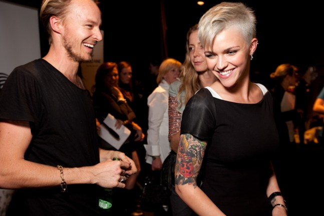 Ben was congratulated after the show by Ruby Rose