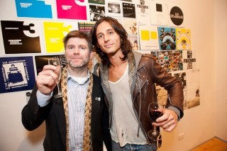 LCD Soundsystem's James Murphy with The Strokes Nick Valensi