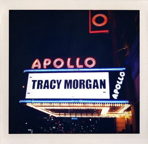 Our first night in New York we saw Tracy Morgan do standup at the Apollo