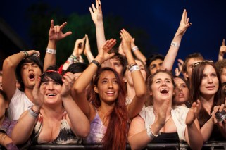The Sydney crowd watching Foals
