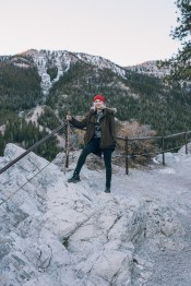 In sub zero temperature atop Mount Charleston