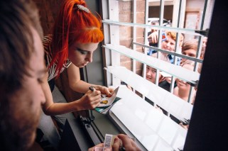 Hayley signing autographs at The Enmore Theatre