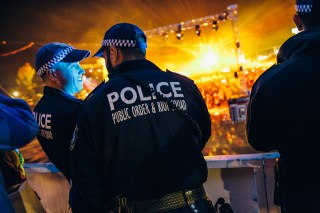 Lots of police, but they appeared not to be pooping too many people's partying