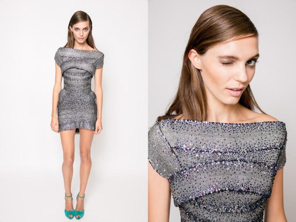 Prix de marie claire 2013 - J'Aton dress; Christian Louboutin heels