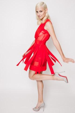 Prix de marie claire 2013 - Michael Lo Sordo dress; Christian Louboutin heels